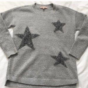 Philosophy Gray Sweater with Metallic Stars
